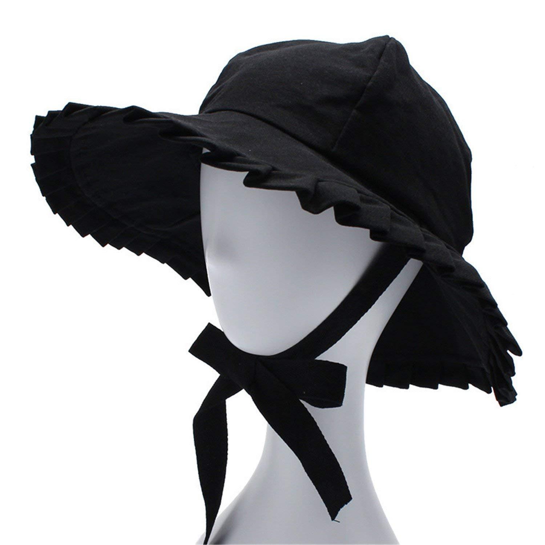 99ca22e7a9a Foldable Cotton Beach Sun Hats for Women Fashion Design Women Foldable  Brimmed Straw Hat Outdoor Cap