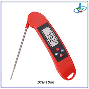 Digital RED BLACK Instant Read Waterproof Meat Thermometer