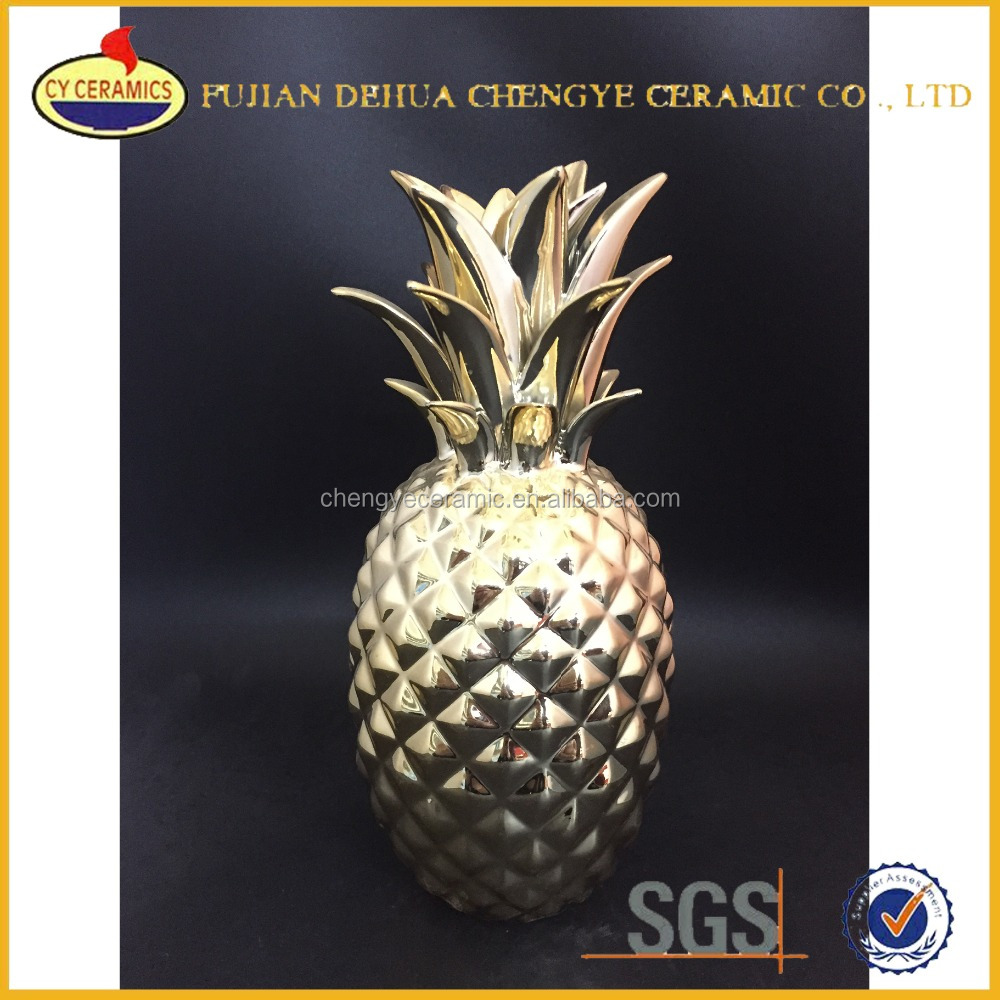 Ceramic Fake Pineapple For Decoration