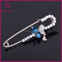 Fashion butterfly decorative rhinestone brooch jewelry safety pins