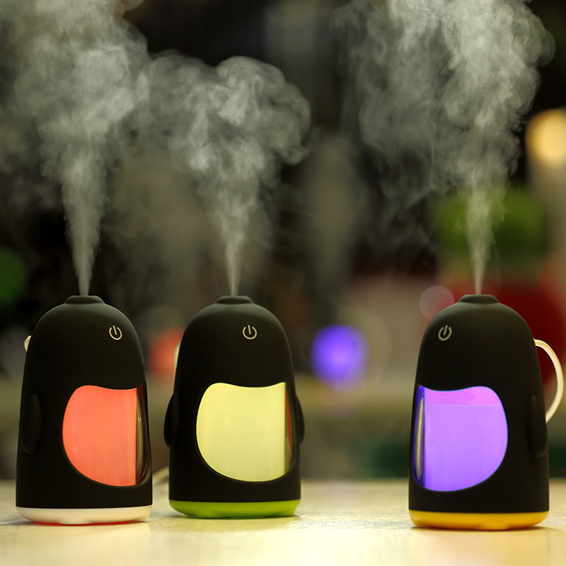 Penguin Shape Can Be Customized Products USB power supply ultrasonic humidifier