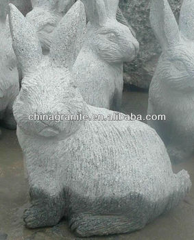 Granite Rabbit Garden Statue