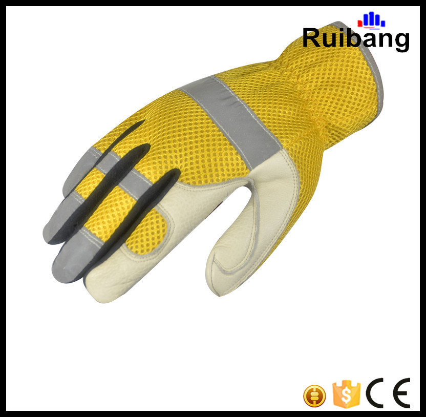 2016 Safety gloves industrial leather hand gloves for worker