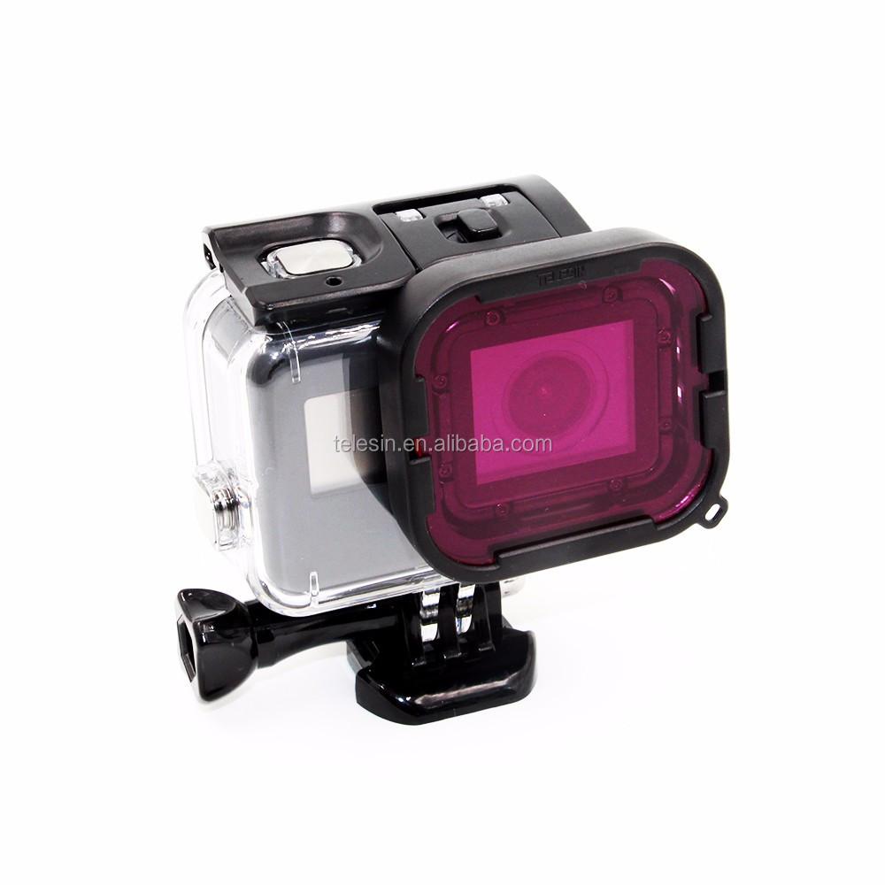 TELESIN underwater diving Red /& Purple UV Filter for Go Pro Hero 6 housing