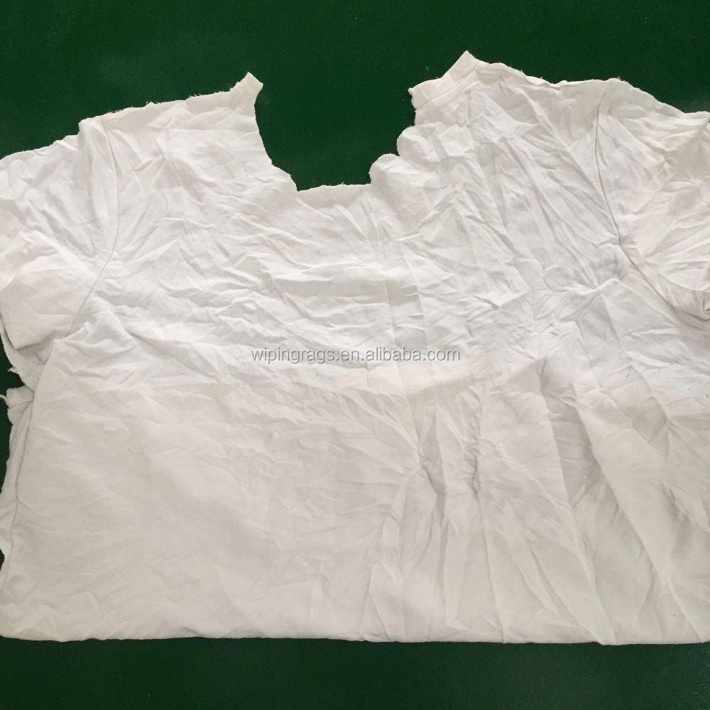 White cotton wiping rags