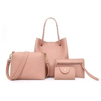 2019 Wholesale Best-selling Cheap High-quality Leather Women's fashion Four-piece Set Bag for Ladies