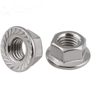 304 stainless steel M12 M18 M30 hex flange nut DIN6923