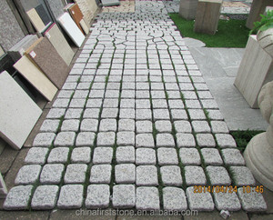 HZW-107 misty white G603 interlocking granite cube stone cheap patio paver stones for sale granite paving stone