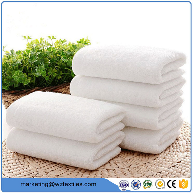 Woven Cotton Hotel White Bath Towel Jacquard Beach Towel
