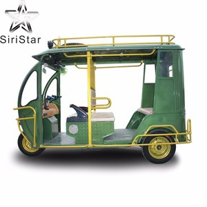 6 passengers Bajaj Open Electric Tricycle With Passenger Seat