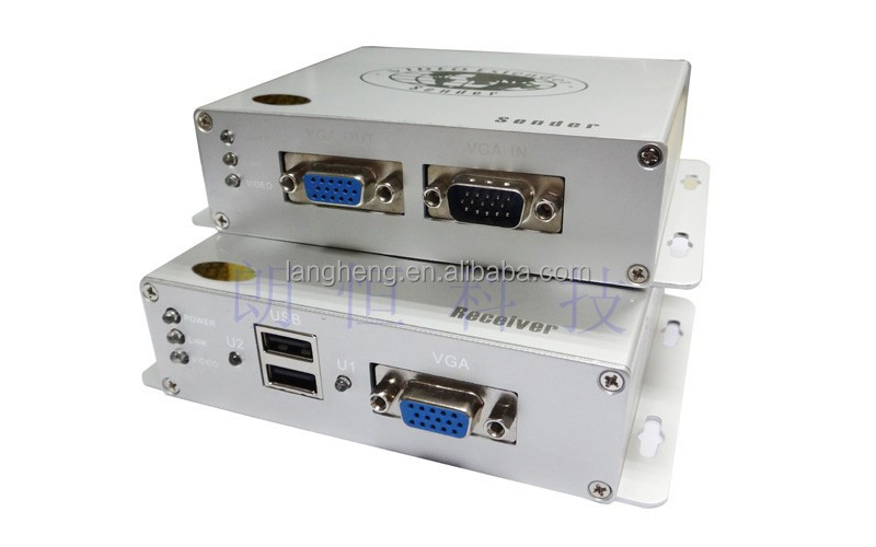 KVM extender using single CAT5E/6 UTP cable up to 200m