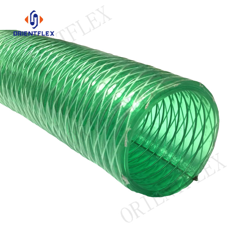 Chinese factory weather resistance spring wire reinforced pvc hose manufacturer