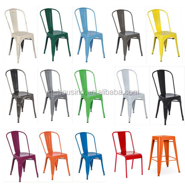 Colorful Bronze Metal Dining Chair