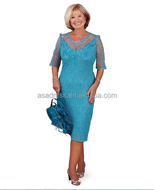 más tamaño elegante novio madre vestidos sherwani boda encaje azul