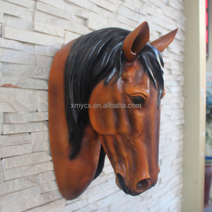 Handicraft wholesale resin horse head figurine