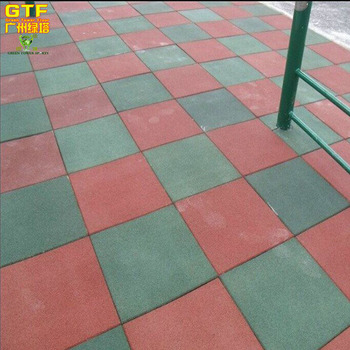 3cm Thickness Rubber Flooring Tiles Outdoor Playground Safety Mat
