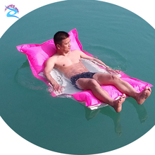 Best selling 70x190 foldable fabric swimming floating bed pool bean bag