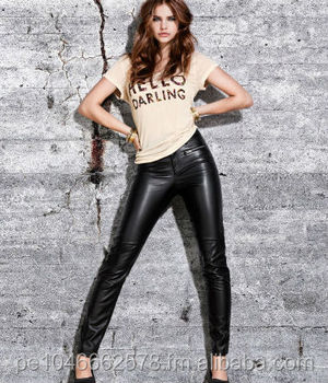 Sexy leather jeans