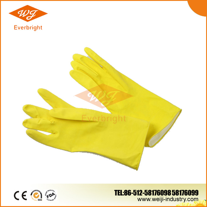 Unlined Household Rubber Latex Gloves Made in China, Colorful