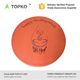 TOPKO Customized Pattern Non Slip PVC Material Round Yoga Mat