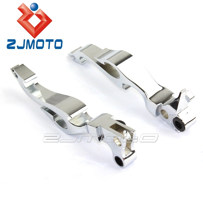 ZJMOTO Aluminum Chrome Motorcycle Clutch Brake Levers Fit For FXSTC Softail Custom FXDWG Dyna Wide Glide Sportster