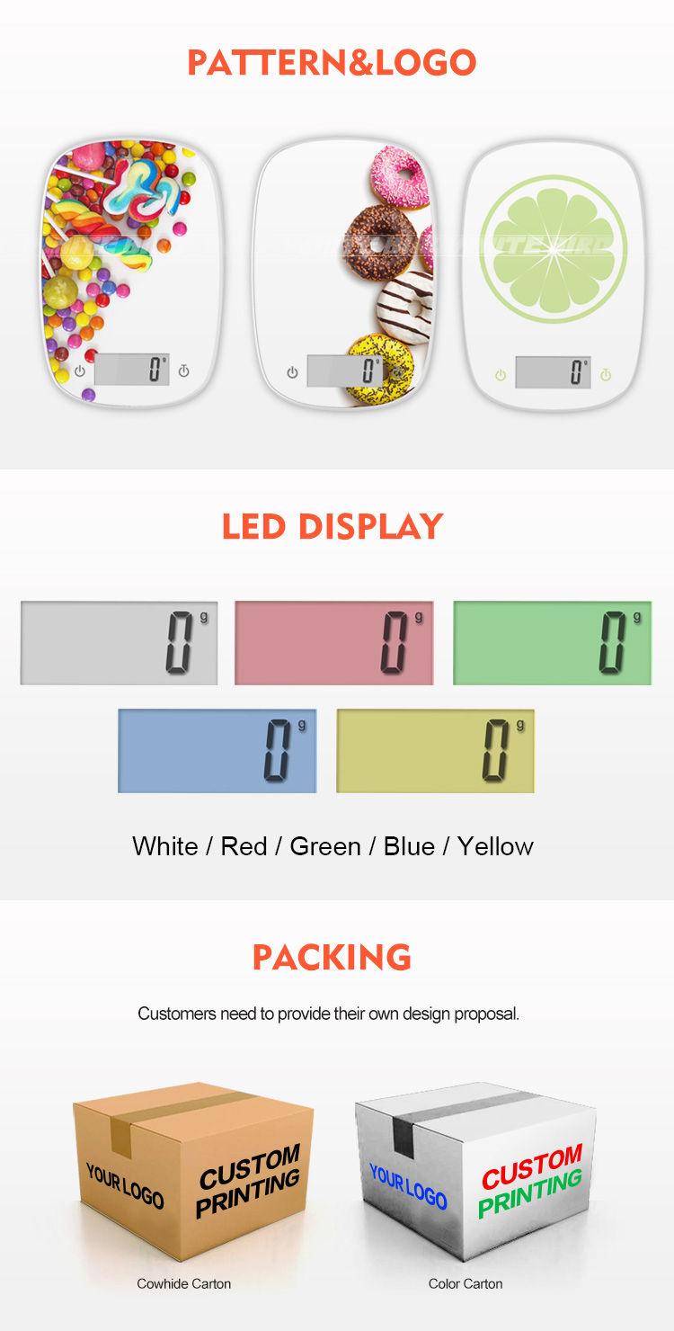 白鳥 5 キロ液晶デジタル食品スケールキッチンスケールと CE 証明書