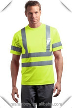 Men's Long / Short Sleeve Hi-Vis Reflective Safety T-Shirts Green / Orange Wholesale