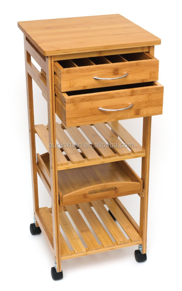 New Design Wood Kitchen Trolley With Drawer 100 Eco Friendly Food Cart Bamboo Kitchen Trolley With Wheels Buy Bamboo Kitchen Trolley Wooden Kitchen