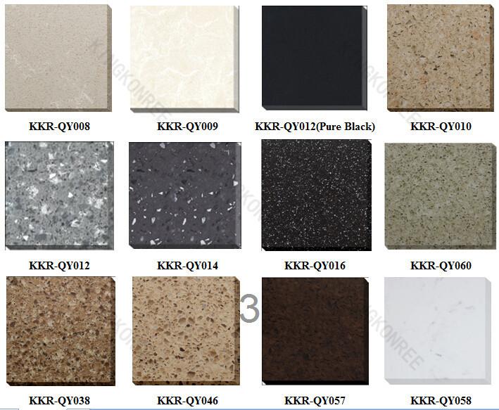 White Galaxy Quartz Engineered Red Stone Floor Tiles Black Starlight