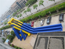 Super Long Amusement Park Giant Inflatable Water Slide for Adult