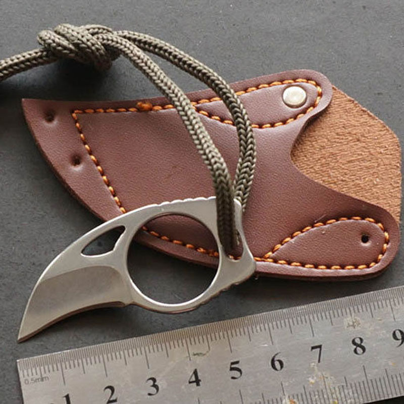 Stainless Steel Mini Pock <strong>knife</strong> claw with sheath tools Outdoor Camp survival combat Tactical <strong>Knife</strong>