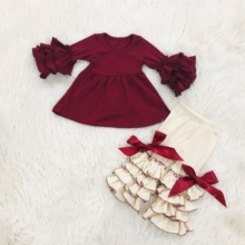 싼 wholesale baby fall 옷 cute little girl 부티크 clothing set