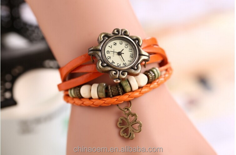 Watches Women Leather Strap Hot Sell Bracelet Wrist lady bracelet watches vintage