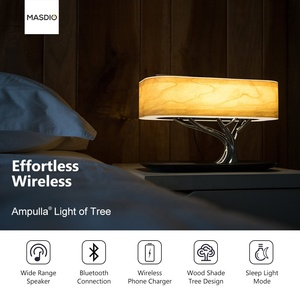 Masdio Tree of Light Bedside Lamp with Wireless Charger for Samsung Xiaomi Huawei