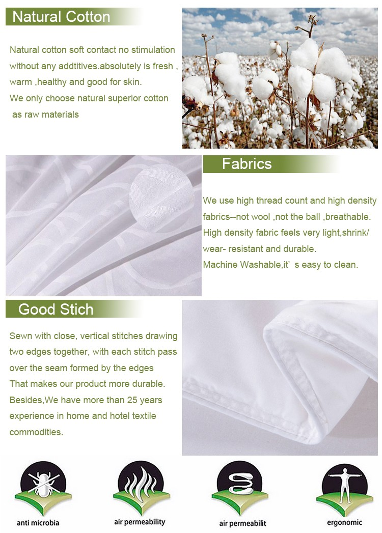New Product Corded White Hotel Linen Pillow Cover Pillow Case
