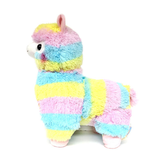 ตุ๊กตาตุ๊กตาสัตว์ที่มีสีสัน alpaca สายรุ้ง lama ของเล่น alpaca ของเล่นตุ๊กตา