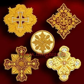 Liturgic Hand Embroidered Cross for Orthodox Church Vestment