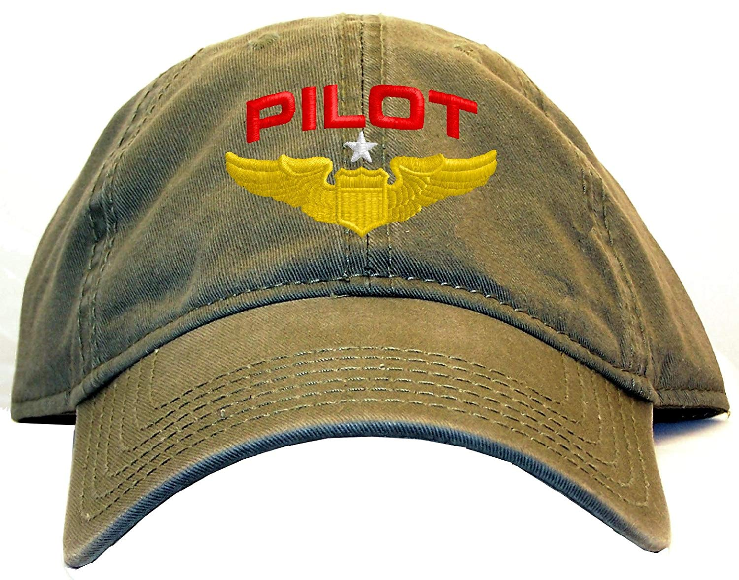 64545721736 Spiffy Custom Gifts Pilot with Wings Low Profile Baseball Cap