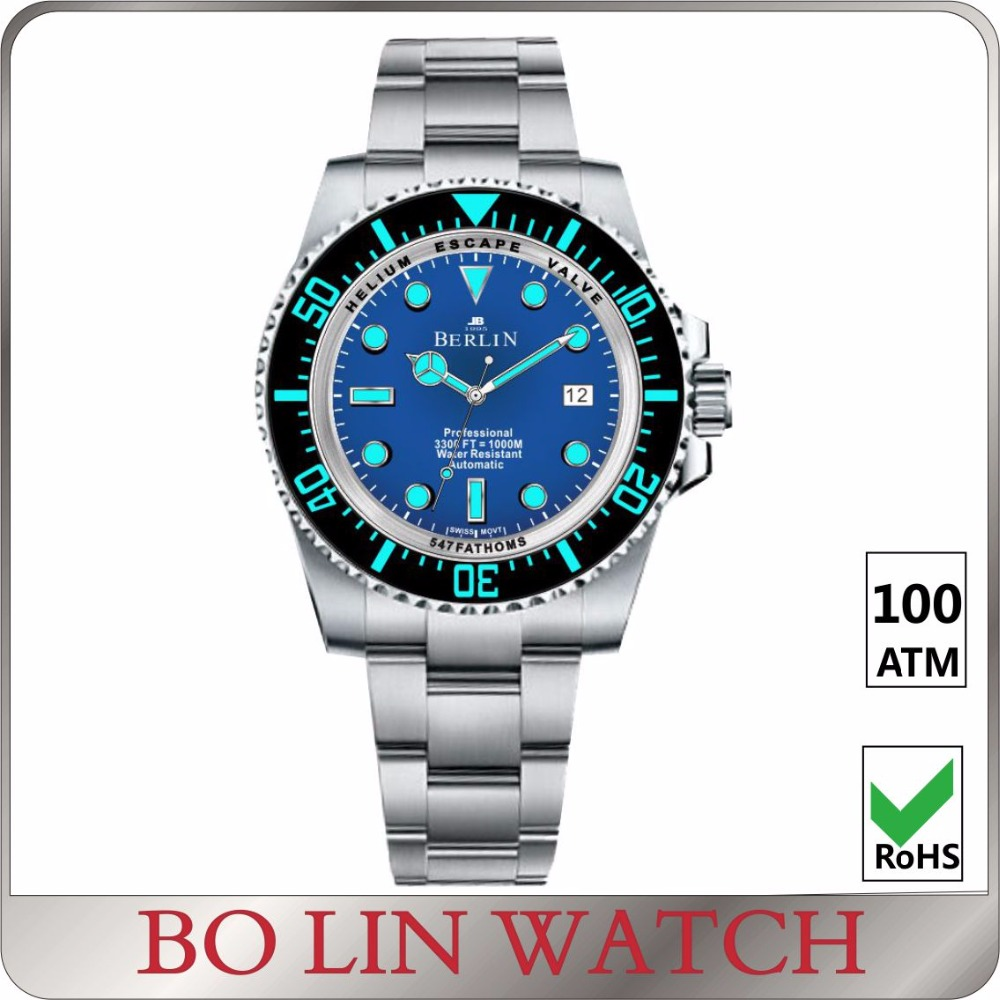 2017 New Arrive! Hot Selling Popular Mechanical Automatic Men Watches Divers