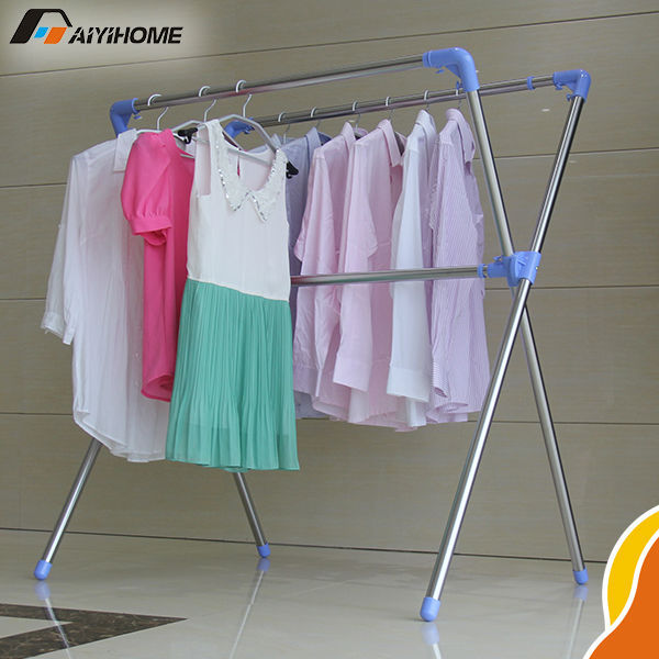 X Type Retractable Drying Rack Hanger,Stainless Steel Portable Cloth Hanger ,Multi