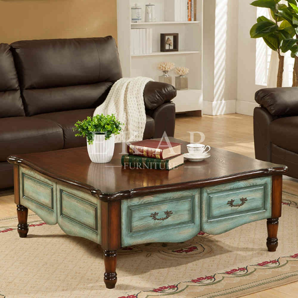 Ekar Furniture Alibaba China Supplier Wooden Coffee Table