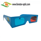 Factory Price customized paper red cyan glasses,paper anaglyph 3d glasses , paper 3d glasses