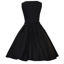 Walson Elegant Style Black Straps Sexy Sweetheart Rockabilly Swing Dress 50's dress