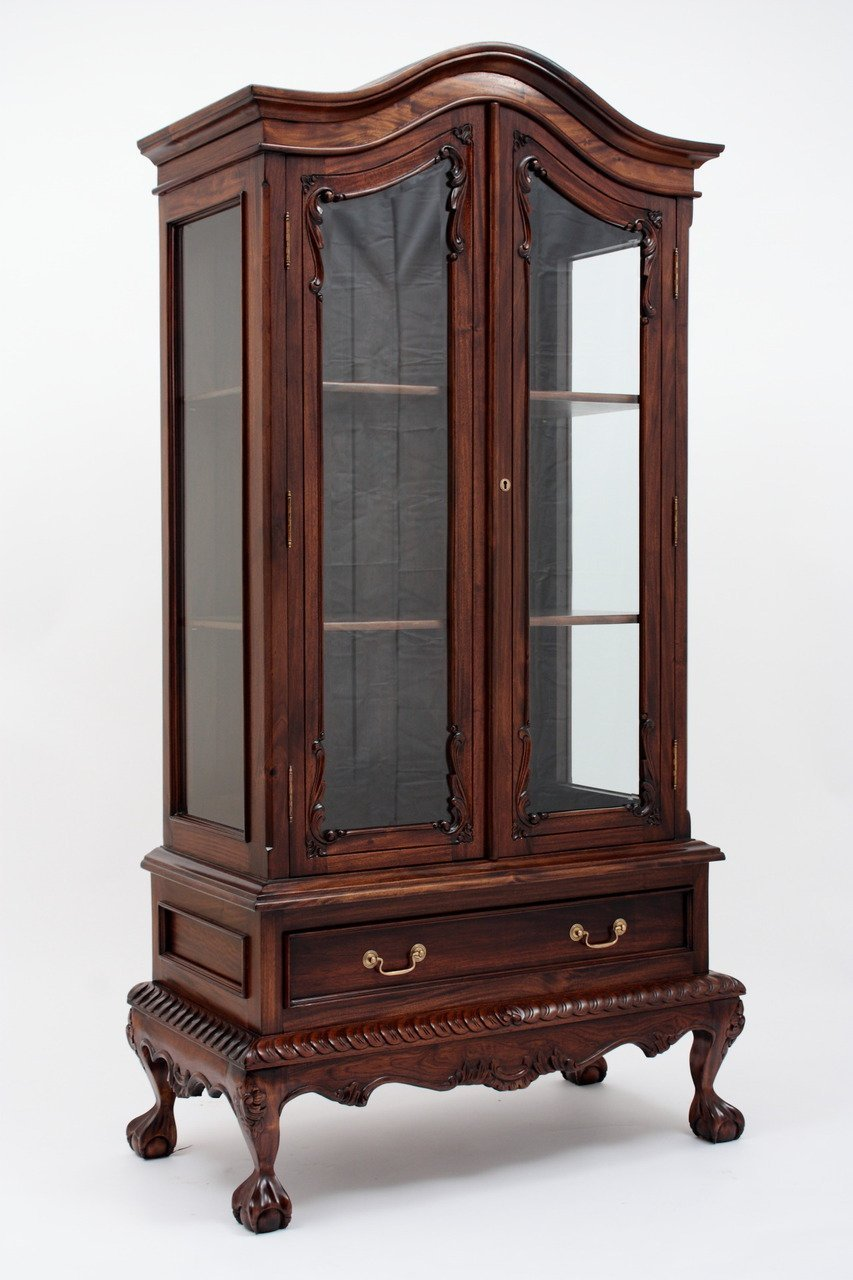 Get Quotations · Chippendale China Cabinet with Two Doors - Cheap China Cabinet Prices, Find China Cabinet Prices Deals On Line