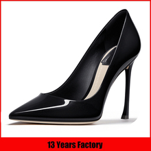 imported custom latest new design leather italian ladies shoes wholesale high heels in china manufacturers