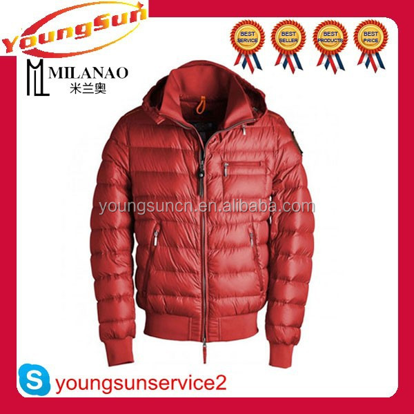 2015 new design brand name winter jackets for man