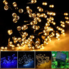 Solar Powered LED String Light, Ambiance Lighting, 54.5ft 17m 100 LED Solar Fairy String Lights Outdoor Gardens Homes Christmas