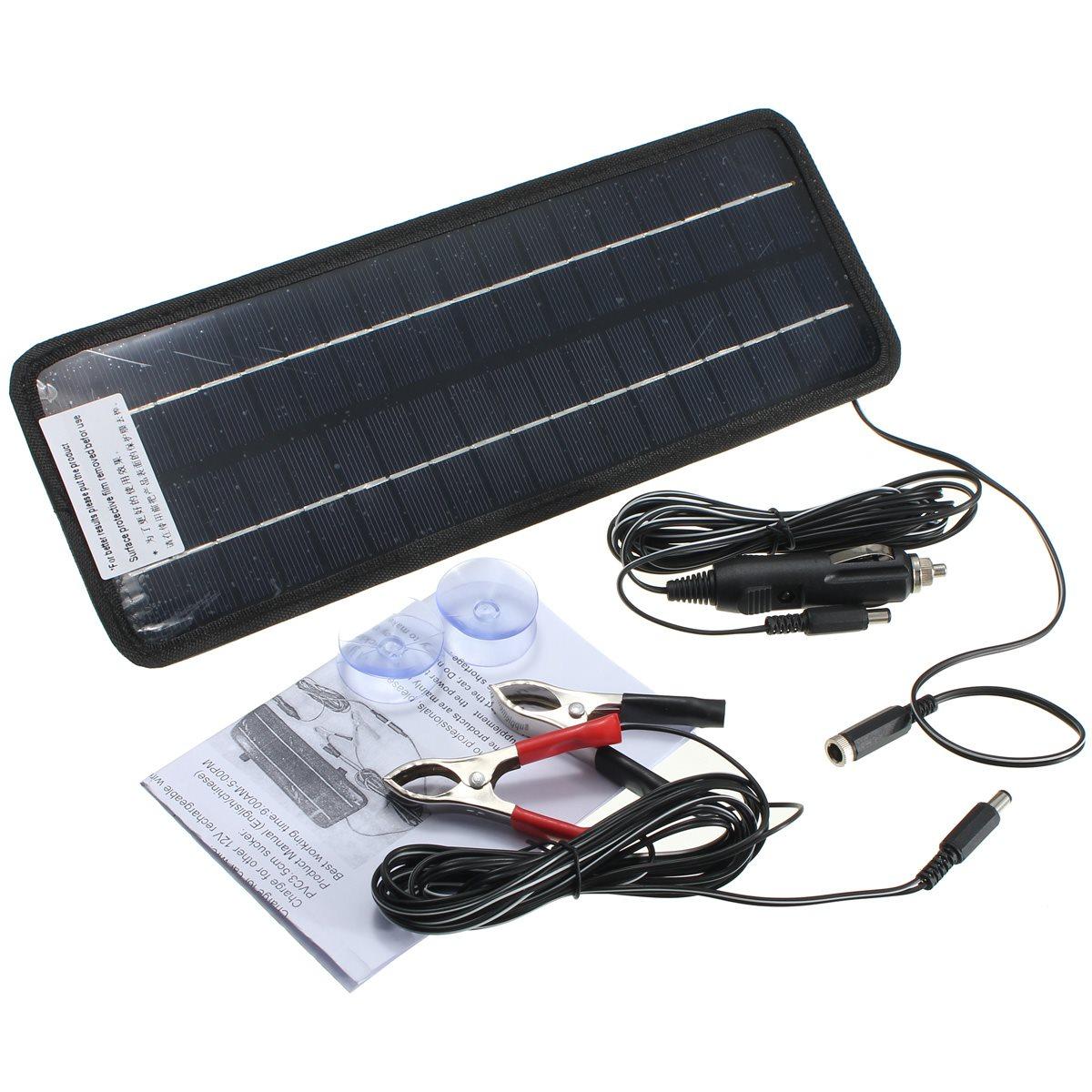 achetez en gros 12 v solaire chargeur de batterie de voiture en ligne des grossistes 12 v. Black Bedroom Furniture Sets. Home Design Ideas