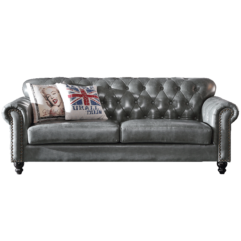 High Quality Vintage Leather Classic Chesterfield Sofa For Living Room -  Buy Vintage Leather Sofa,Classic Chesterfield Sofa,High Quality Classic ...