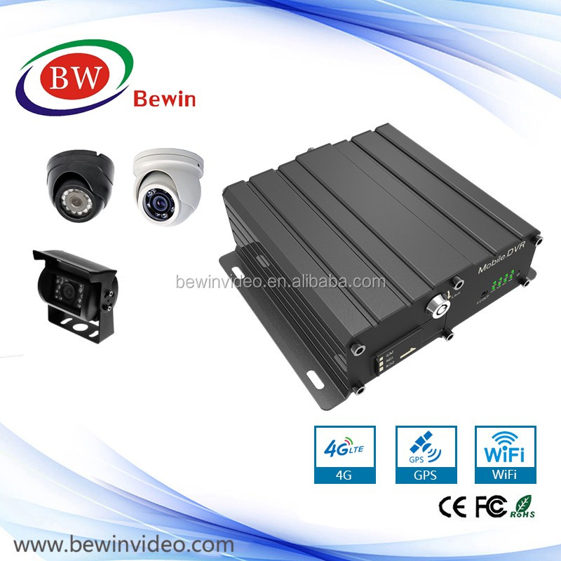 H.264 gps 3G WIFI AHD Mobile DVR SD Card 4CH MDVR from Original Manufacturer 720p bus dvr similar to Hikvision